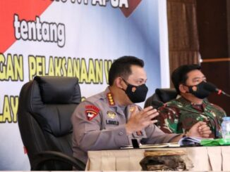 Ket : Kapolri Jendral Listyo Sigit Prabowo dan Panglima TNI Marsekal Hadi Tjahjanto (foto : Istemewa)