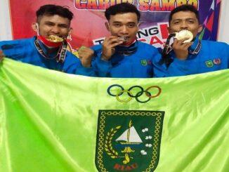 Ket : 3 Atlet Persambi Kota Pekanbaru pulang ke Bumi Lancang Kuning dipastikan membawa 4 medali Emas dan 1 Perak (Foto/Istimewa)