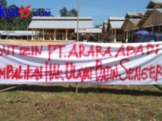 izin PT. Arara Abadi kembalikan hak Ulayat Batin Sengeri (foto/Soni Lahagu)