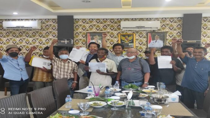 Ket : Cabut Izin Usaha PT Pulomas,asyarakat nelayan sikapi kebijakan Gubernur Babel sangat tepat (foto/Istimewa)