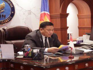 Ket : Kepala BNN RI mewakili Pemerintah Indonesia pada pertemuan _7th ASEAN Ministerial Meeting on Drugs Matter (AMMD)_ yang diikuti secara live virtual (Foto/Biro Humas dan Protokol BNN RI)