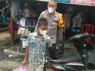 Ket : Kapolres Merangin bersama Nabil Ardiansyah (Foto: istimewa)